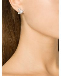 Vivienne Westwood - Metallic 'grace As Relief' Stud Earrings - Lyst