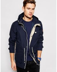 Blend Hooded Jacket Lightweight Parka in Blue for Men | Lyst