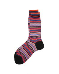 Ayamé - Black Multicolor Stripy Socks for Men - Lyst