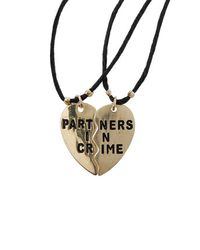 TOPSHOP - Metallic Womens Partners in Crime Necklace Set  Gold - Lyst