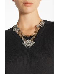 Lulu Frost - Metallic Beacon Gold-Plated Crystal Necklace - Lyst