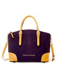 Dooney & Bourke | Purple Claremont Python Dome Satchel Bag | Lyst