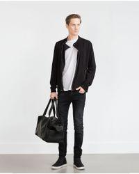 Zara | Black Biker Jacket for Men | Lyst