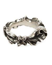 Werkstatt:münchen   Metallic Werkstatt:münchen Floral Skull Ring   Lyst