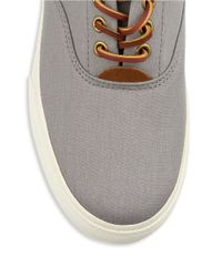 Polo Ralph Lauren | Gray Vaughn Lace-up Sneakers for Men | Lyst
