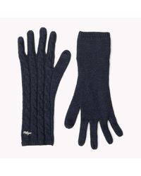 Tommy Hilfiger | Blue Wool Blend Sparkle Gloves | Lyst