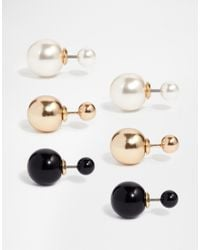 ALDO | Natural Nassi Throu & Throu Faux Pearl Stud Earrings | Lyst