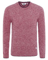 Penfield | Red Gering Melange 2tone Jumper for Men | Lyst