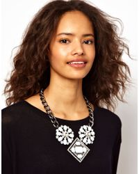 ASOS Collection - Metallic Asos Chunky Jewelled Collar Necklace - Lyst