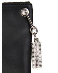 Christopher Kane - Black Swarovski-Embellished Leather Pouch - Lyst