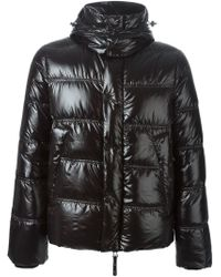Duvetica - Black Hooded Quilted Jacket - Lyst