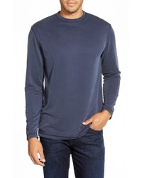 Bugatchi | Blue Long Sleeve Knit T-shirt for Men | Lyst