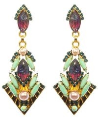 Elizabeth Cole | Metallic Blaire Earrings | Lyst