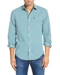 Original Penguin | Blue 'p55' Check Woven Shirt for Men | Lyst