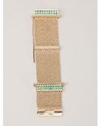 Aurelie Bidermann - Green 'palazzo' Bracelet - Lyst