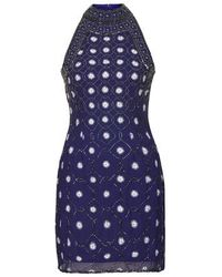 TOPSHOP - Blue Priscilla Embellished Dress By Tfnc - Lyst