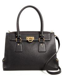Ferragamo - Black Lotty Medium Leather Satchel - Lyst