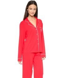 Wildfox | Red Morning Person Pj Set - Vanilla/black | Lyst