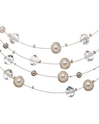 John Lewis | Metallic Faux Pearl And Bead Illusion Necklace | Lyst