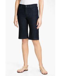 NYDJ | Blue 'haley' Stretch Denim Shorts | Lyst
