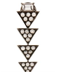 Nikos Koulis - Diamond & White-Gold Drop Earrings - Lyst