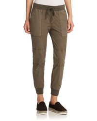 James Perse | Green Parachute Poplin Utility Pants | Lyst