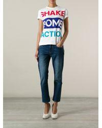 Être Cécile - White 'Shake Some Action' T-Shirt - Lyst