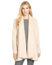 Calvin Klein | Natural Wool Blend Clutch Coat | Lyst