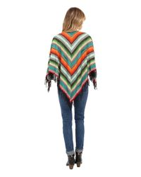 Double D Ranchwear - Orange Pachamama Serape Poncho - Lyst