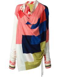 Bernhard Willhelm | Multicolor Square Knit Sweater | Lyst