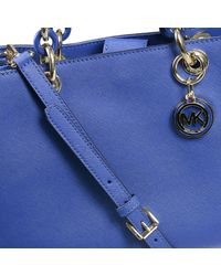 Michael Kors | Blue Lexi Textured-leather Tote | Lyst