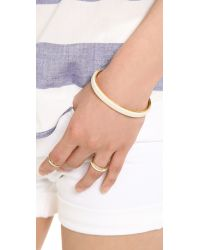 Marc By Marc Jacobs - Metallic Leather Cuff Bracelet - Lyst