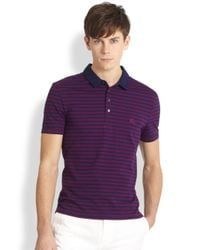 Burberry Brit | Purple Berner Striped Polo Shirt for Men | Lyst