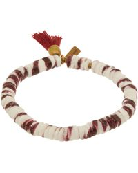 Isabel Marant | Small Red Fiji Beaded Tassel Bracelet | Lyst