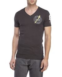 G-Star RAW | Gray Inigo V-Neck Tee for Men | Lyst