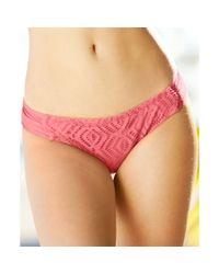 Becca | Orange Crochet Sidetab Bikini Bottom | Lyst
