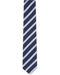 Eton of Sweden | Blue Diagonal Stripe Silk Tie for Men | Lyst