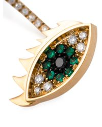 Delfina Delettrez | Green 'eyes On Me Piercing' Emerald And Diamond Earring | Lyst