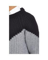 Esk - Black Colorblock Pullover Sweater - Lyst