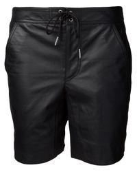 T By Alexander Wang - Black Leather Board Short - Lyst