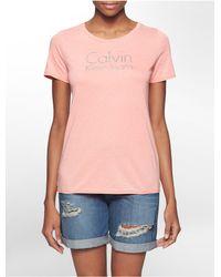 Calvin Klein - Pink Jeans Logo Burnout Dip Dye T-shirt - Lyst