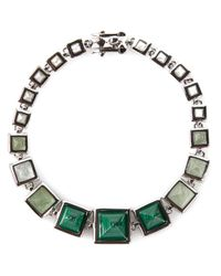 Eddie Borgo | Metallic Graduated Gemstone Pyramid Bracelet | Lyst