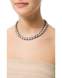Fallon | Metallic Classique Crystal Necklace | Lyst