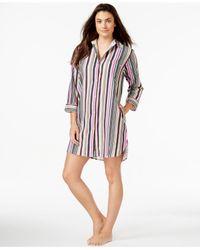 DKNY | Multicolor Three-quarter-sleeve Sleepshirt | Lyst
