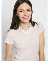 BaubleBar - White Rolo Chain Collar - Lyst