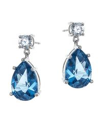 CZ by Kenneth Jay Lane | Blue 8cttw Round/pear Cz Ears | Lyst