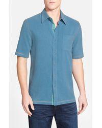 Nat Nast - Blue 'the New Originals' Regular Fit Short Sleeve Silk Sport Shirt for Men - Lyst