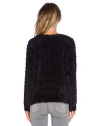 Generation Love | Black Fuzzy Knit Pullover | Lyst