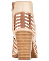 Rampage - Natural Voda Caged Dress Sandals - Lyst