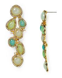 Ralph Lauren - Metallic Lauren Cluster Drop Earrings - Lyst